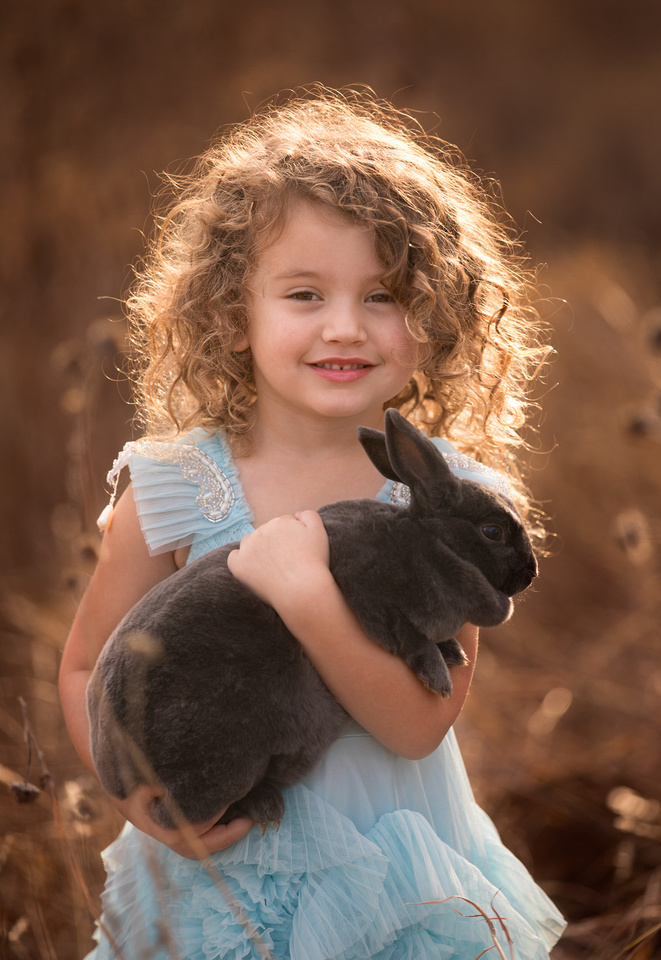 girl in Couture Bunny Portrait fort worth tx