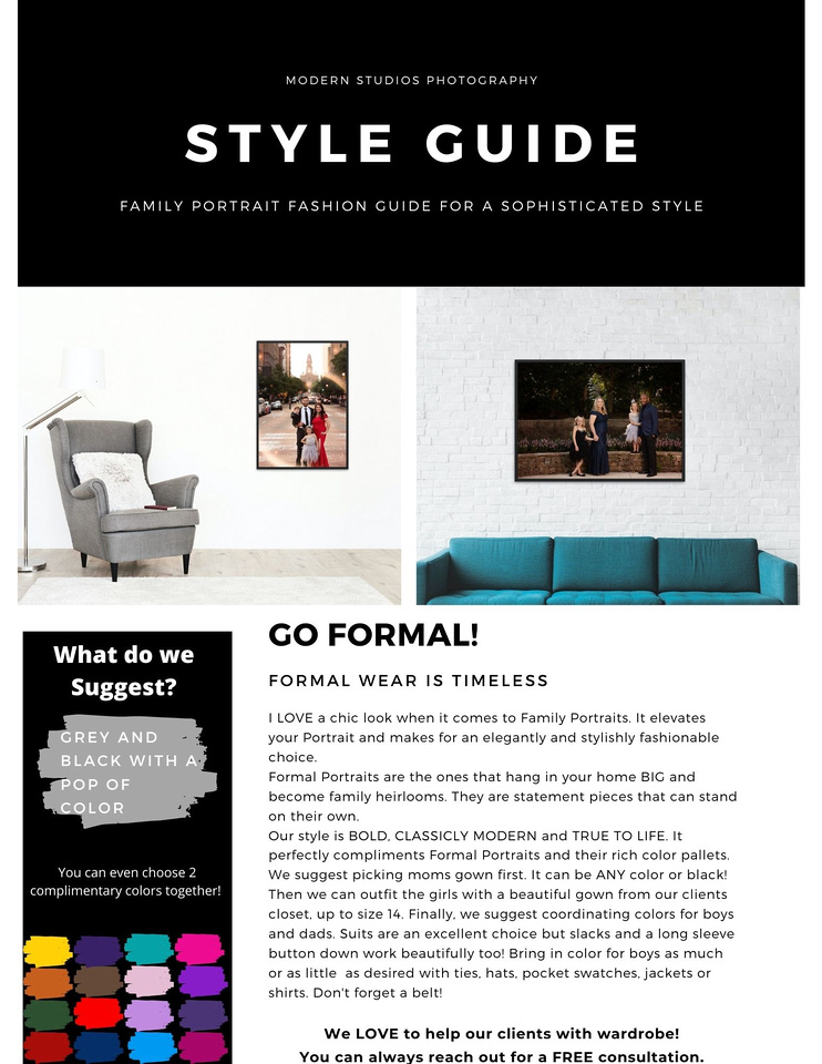How to sale for formal family portraits