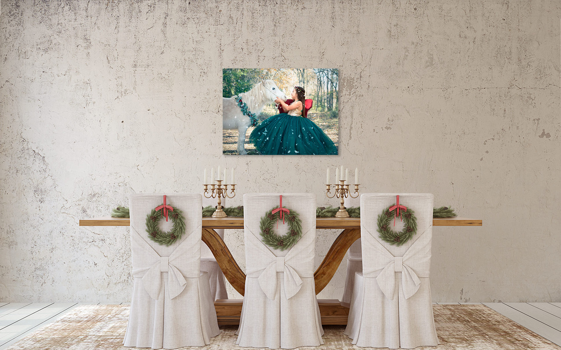 Holiday Portraits of Your Children for your Dining Room