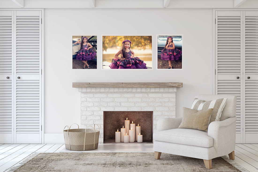 Holiday Childrens Portrait Trio for your wall